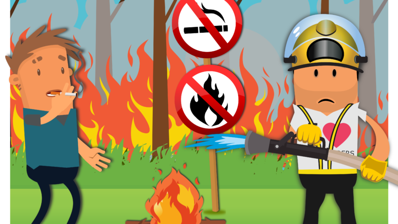 Pas op met open vuur en wees spaarzaam met water