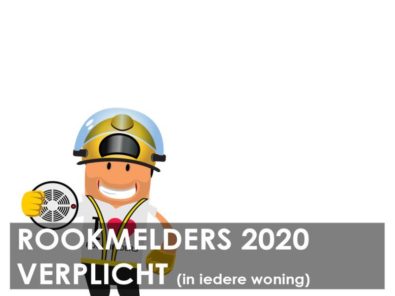 Rookmelders verplicht vanaf 1 januari 2020 in iedere woning!
