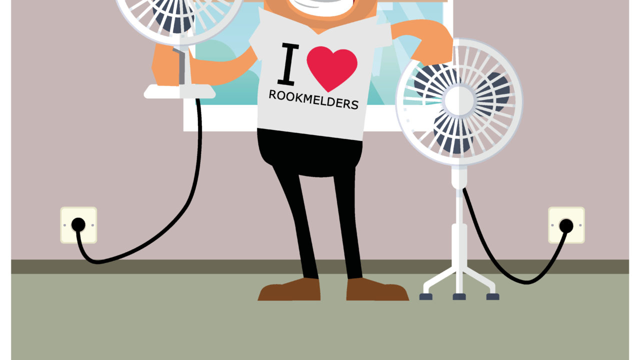 Plaats een rookmelder boven je ventilators!